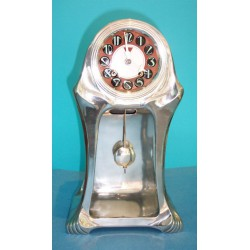 Antique Orivit clock in working order with hour and half hour chimes. Stamped marks (c.1900)