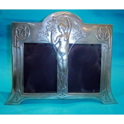 Antique WMF Double Photograph Frame. Stamped marks (c.1900)