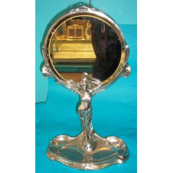 Imperial Zinn large pewter table mirror (c.1900)
