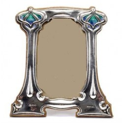 George Lawrence Connell Silver and Enamel Photograph Frame. Registration No.404509. Hallmarked for London 1903.