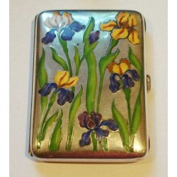 Genuine antique silver and enamel cigarette case. Stamped marks. German. Circa 1900