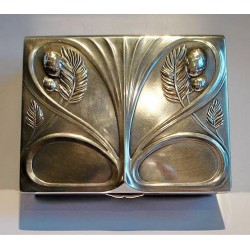 Antique WMF silver plated pewter box. Stamped marks. Circa 1900