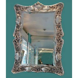 Antique silver easel mirror. Makers mark CD. Hallmarked London 1908
