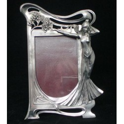Anique WMF Female Figural Photograph Frame. Circa 1900